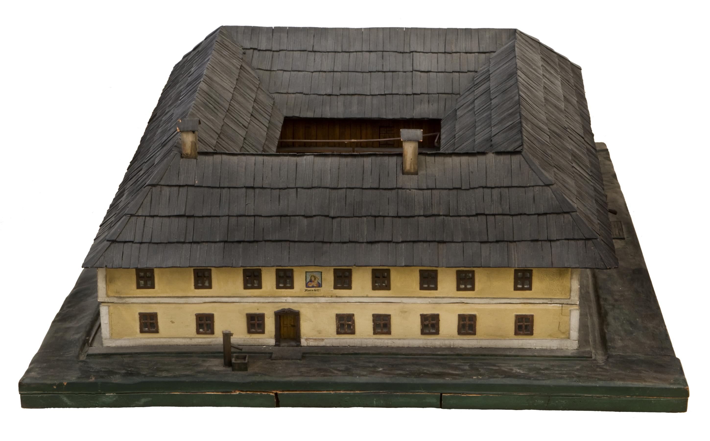 Modell eines oberösterreichischen Vierkanthofes von Wimmer-Brunner, Gertrud