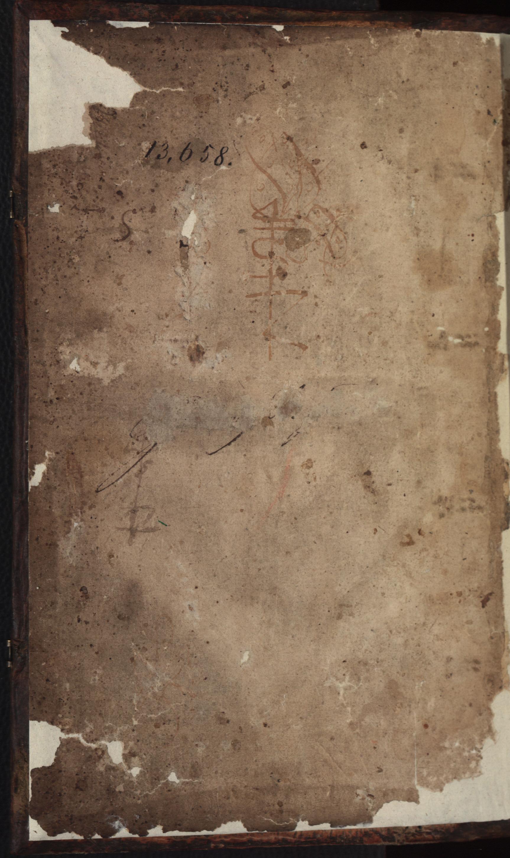 Hauspostille, vorderes Vorsatzblatt von Hausotter, Alexander