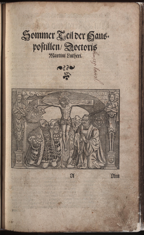 Hauspostille, 2. Teil f. 1r von Hausotter, Alexander