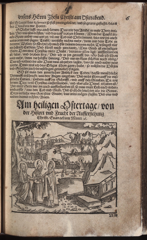 Hauspostille, 2. Teil f. 6r von Hausotter, Alexander