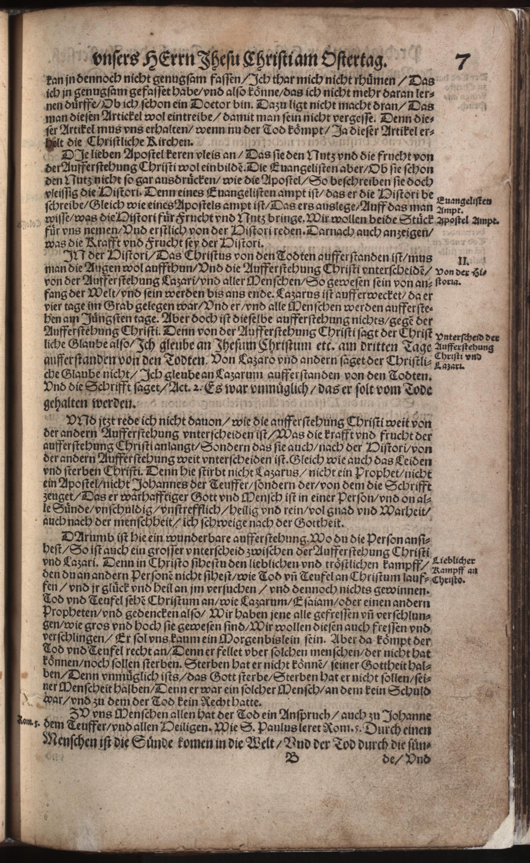 Hauspostille, 2. Teil f. 7r von Hausotter, Alexander