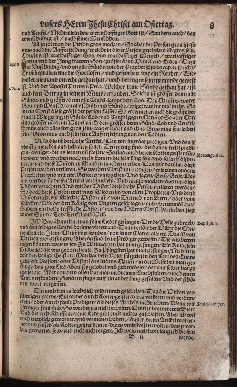 Hauspostille, 2. Teil f. 8r von Hausotter, Alexander