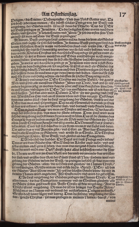 Hauspostille, 2. Teil f. 17r von Hausotter, Alexander