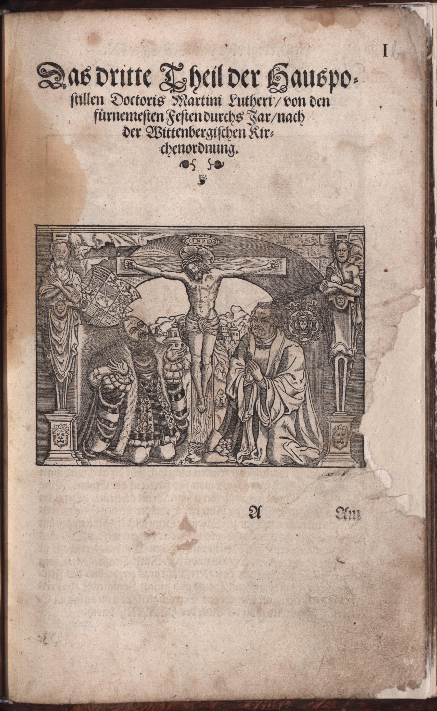 Hauspostille, 3. Teil f. 1r von Hausotter, Alexander