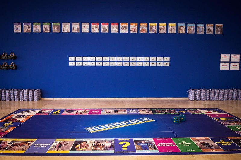 : Europoly - The European Union Identity Trading Game. Foto: Marija Piroški © Krokodil Archive (April 2017)